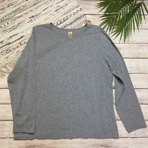 Anne Klein Heather Gray Long Sleeve Tee Size 2X